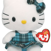 Ty Beanie Baby Hello Kitty - Aqua Plaid