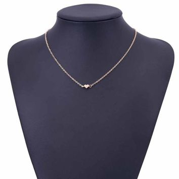Simple Chains Necklaces Gold Heart Necklace Delicate Minimal Heart Necklace For Women Charm Necklace