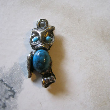 Vintage Owl Charm by janissupplies on Etsy