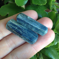 Set of 2 Beautifully Blue Kyanite Specimens Perfect for Wire Wrapping