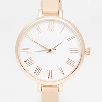 ASOS Large Face Slim Strap Watch