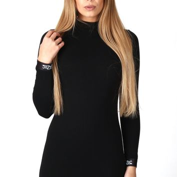 BAZIIC BLACK LONG SLEEVE DRESS - Dresses - Female Hot!MeSS Fashion UK