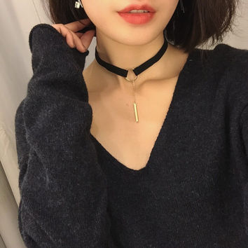 Jewelry New Arrival Shiny Gift Sweater Korean Simple Design Metal Ring Pendant Stylish Chain Necklace [10412390420]