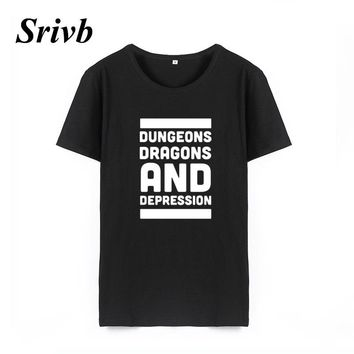 Srivb 2018 Dungeons Dragons Summer Women Short Sleeve Tumblr Hipster Cotton Hip Hop Women T Shirt Femme Funny Loose Tshirt Women