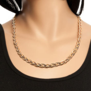 Twisted Herringbone Necklace