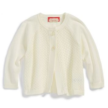 Infant Girl's Ruby & Bloom Knit Cardigan