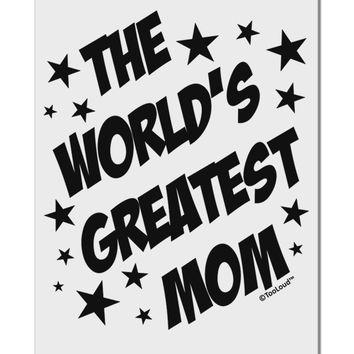 """The World's Greatest Mom - Superhero Style Aluminum 8 x 12"""" Sign by TooLoud"""