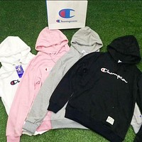 Champion classic simple wild couple models hooded sweater