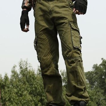 Men's Military Style Midweight Cargo Pants (5 colors available in sizes up to 40in)