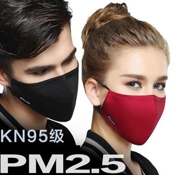 1 Piece NEW ARRIVE Cotton Mouth Mask Anti-Dust Cloth Mask Respirator with 6 Filter Cloth Anti Dust Black Mask available