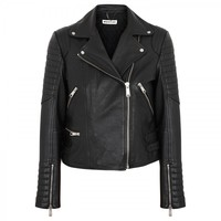 Ziggy leather biker jacket