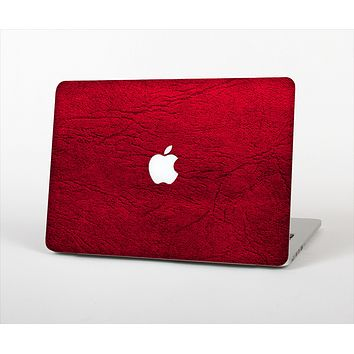 The Rich Red Leather Skin Set for the Apple MacBook Pro 13""