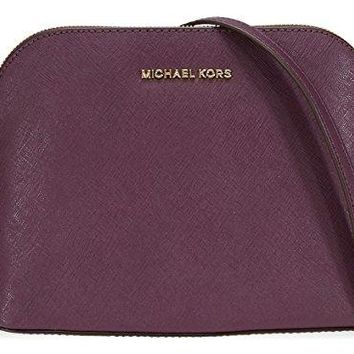 Michael Kors Cindy Large Dome Crossbody Saffiano Leather
