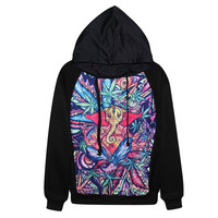 New Womens Hoodie Weed Leaf Elephant Printed 3D Tops Long Sleeve Pullover Sweatshirts Marijuana Leaf = 1931485892