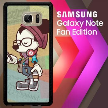 Hipster Mickey Mouse L1579 Samsung Galaxy Note FE Fan Edition Case