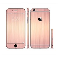 The Rose Gold Brushed Surface Sectioned Skin Series for the Apple iPhone 6