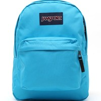 JanSport Superbreak School Backpack - Womens Backpack - Blue - One