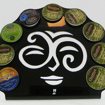 Black 9 K Cup Dispenser Coffee Keurig Tree Pod Holder K Cup Storage Rack Acrylic Made in USA