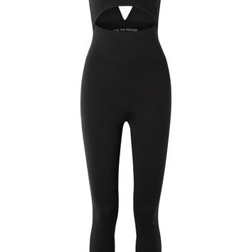 Live The Process - Cutout stretch-Supplex bodysuit