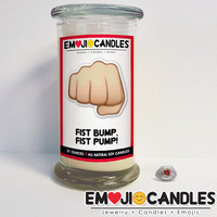 Fist Bump, Fist Pump! - Emoji Jewel Candle