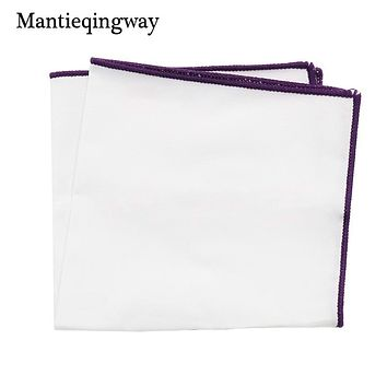 Handkerchief Solid Color Pocket Square For Men Suit Wedding Party Hankies Home Casual Square Hank Chest Towel