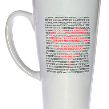 Binary Heart Coffee or Tea Mug, Latte Size