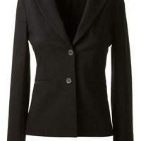 The Row Black Black Fitted Blazer