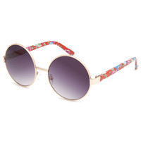 Full Tilt Emma Floral Sunglasses Red One Size For Women 24109230001