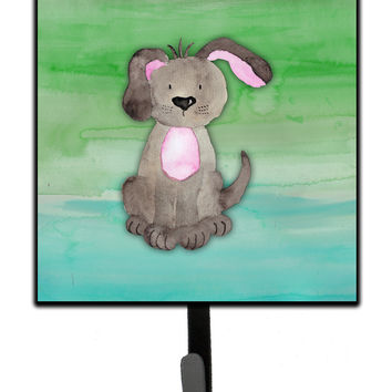 Dog Teal and Green Watercolor Leash or Key Holder BB7357SH4