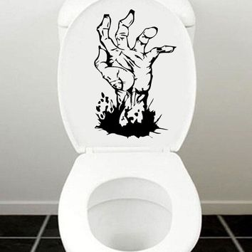 Zombie Hand Window Decal Bathroom Toilet Wall Sticker Home Decoration Accessories 4WS0097