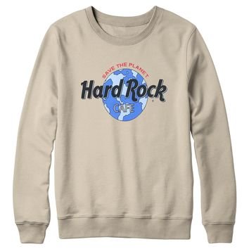 Retro Globe Logo Fleece Sand