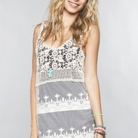 Crochet and lace dress