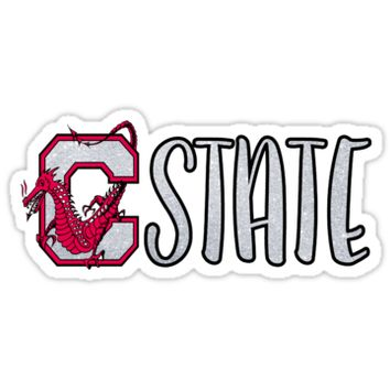 'SUNY Cortland C State' Sticker by Kt Farello Designs