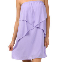 Lilac Strapless Dress | Studio 706 Boutique
