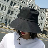 SUOGRY Wide Brim Waterproof Men Women Panama Bucket Hat Casual Quick-drying Summer Sun Cap Hat Solid Plain Fishing Fisherman Hat