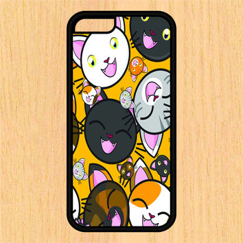 Cartoon Cat Pattern PC SEC1 PC SEC1 PC SEC1 Print Design Art iPhone 4 / 4s / 5 / 5s / 5c /6 / 6s /6+ Apple Samsung Galaxy S3 / S4 / S5 / S6