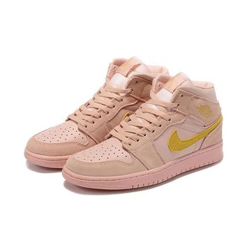 Air Jordan 1 Mid Coral Gold - Best Deal Online