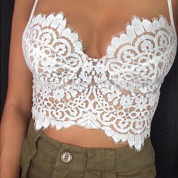 Summer New Sexy Patterns of Lace Camisole Vest