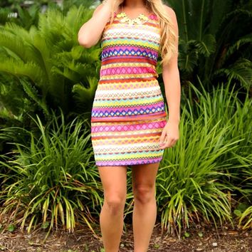 Spring Break Dress: Multi - What's New - Hope's Boutique