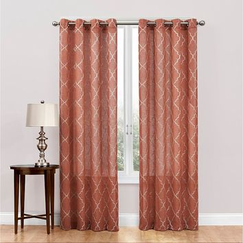 SONOMA life + style Dune Embroidered Sheer Curtain - 50'' x 63''