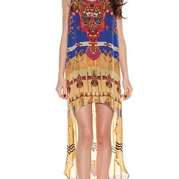 Parides Original Navajo Cami Hi Low Dress By- Shahida Parides at Shop Divine