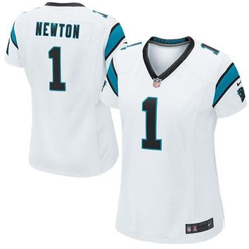 Women's Carolina Panthers Cam Newton #1 Nike White Game Jersey