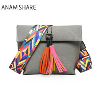 ANAWISHARE Women Messenger Bag Tassel Crossbody Bags For Girls Shoulder Bags Female Designer Handbags Bolsa Feminina Bolsos Muje