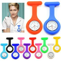 High Quality Brand New Silicone Nurses Brooch Fob Watches Medical Nurse Watch Nursing Free Shipping