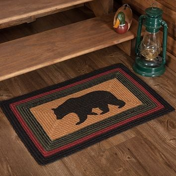 Wyatt Bear Braided Jute Rectangle Rug