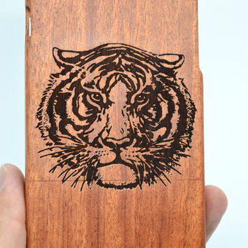 iPhone 6 Wood Case - Rose Wood Tiger - Handmade Wooden Case and Cover for Your iPhone 6 & iPhone 6 Plus