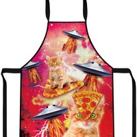 Bacon Pizza Space Cat Cooking Apron