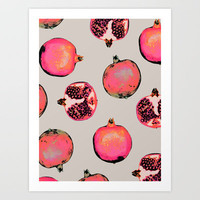 Pomegranate Pattern Art Print by Georgiana Paraschiv