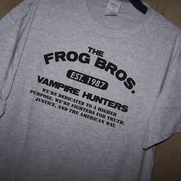 THE LOST BOYS Movie...Frog Brothers T Shirt