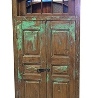 Antique Terrace Door Vintage Rustic Jharokha Window Architecturals Southern Decor